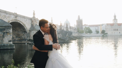 婚前拍攝布拉格。 中國婚禮布拉格。pre-wedding shoot prague. chinese wedding prague.